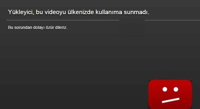 Youtube'da Ülke sınırlaması olan videolar nasıl seyredilir