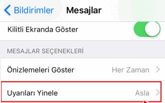 iPhone'da Gelen SMS bildiriminin tekrarlanma sayısı nasıl değiştirilir?