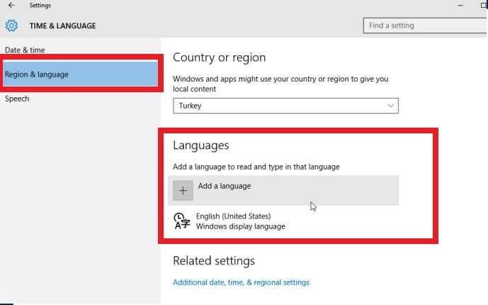 6 Adımda Windows 10 Türkçe dil paketi yükleme