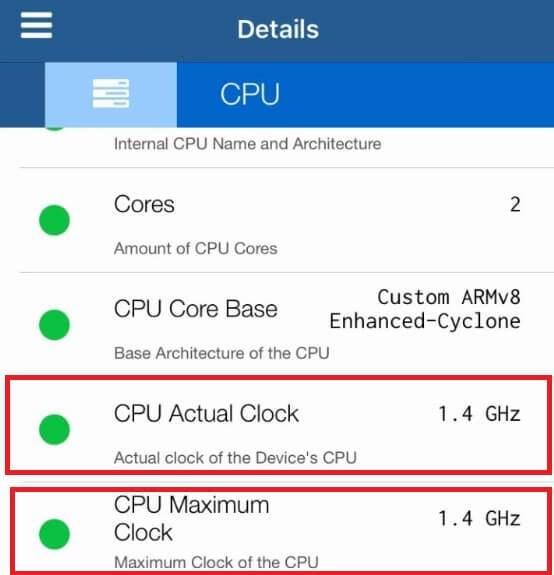 iPhone işlemci hızı kontrol etme