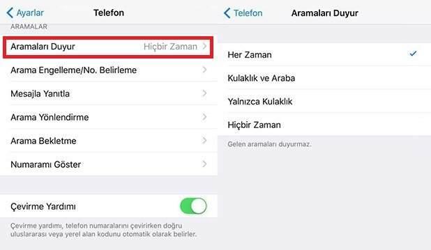 iPhone'da Arayanın İsmini Söyleme Nasıl Yapılır ?