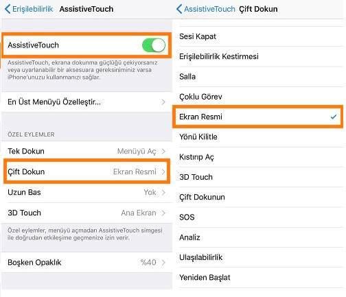 Bozuk Tuşu Olan iPhone'da Ekran Görüntüsü Alma