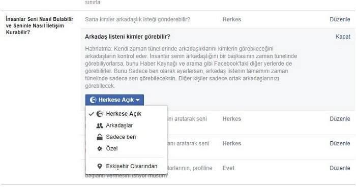 Facebook Gizlilik Ayarları (2018) Nasıl Yapılır