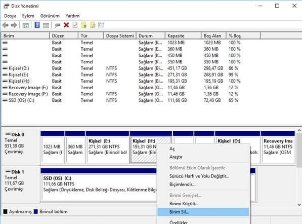 Windows 10'da Disk Genişletme Nasıl Yapılır?