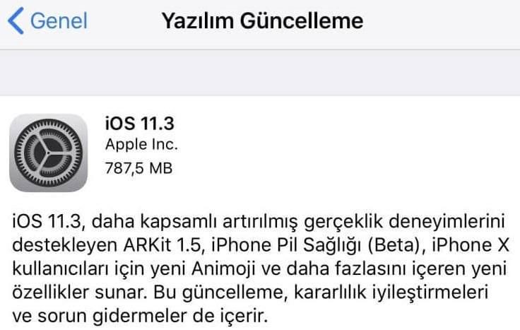iOS 11.3 ile Yeni Gelen Özellikler