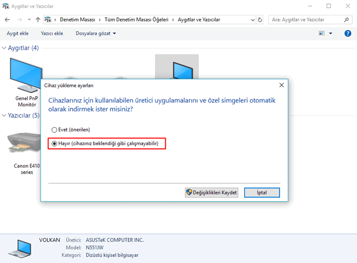 Windows 10 Driver Güncellemelerini Kapatma