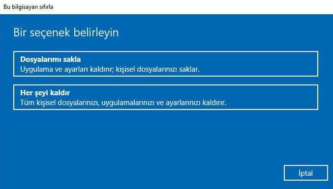Windows Nasıl Sıfırlanır?