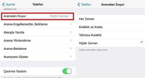 iPhone'da Arayanın İsmini Söyleme Nasıl Kapatılır ?