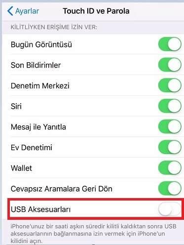 iOS Kısıtlanmış USB Modu Nedir, Nasıl Aktif Edilir ?