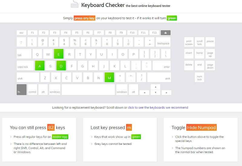 Klavye Tuş Çalışma Testi Nasıl Yapılır ?