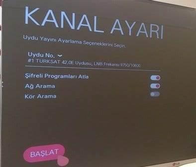 LG Smart TV Uydu Ayarları