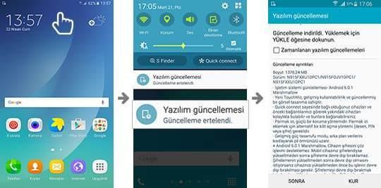 Samsung Cihaz Güncelleme