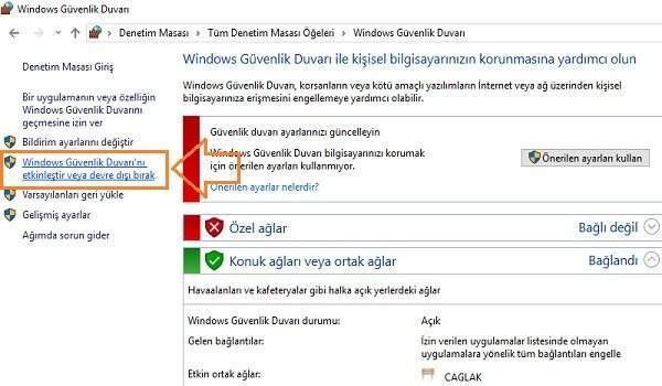 Windows 10 Defender Kapatma