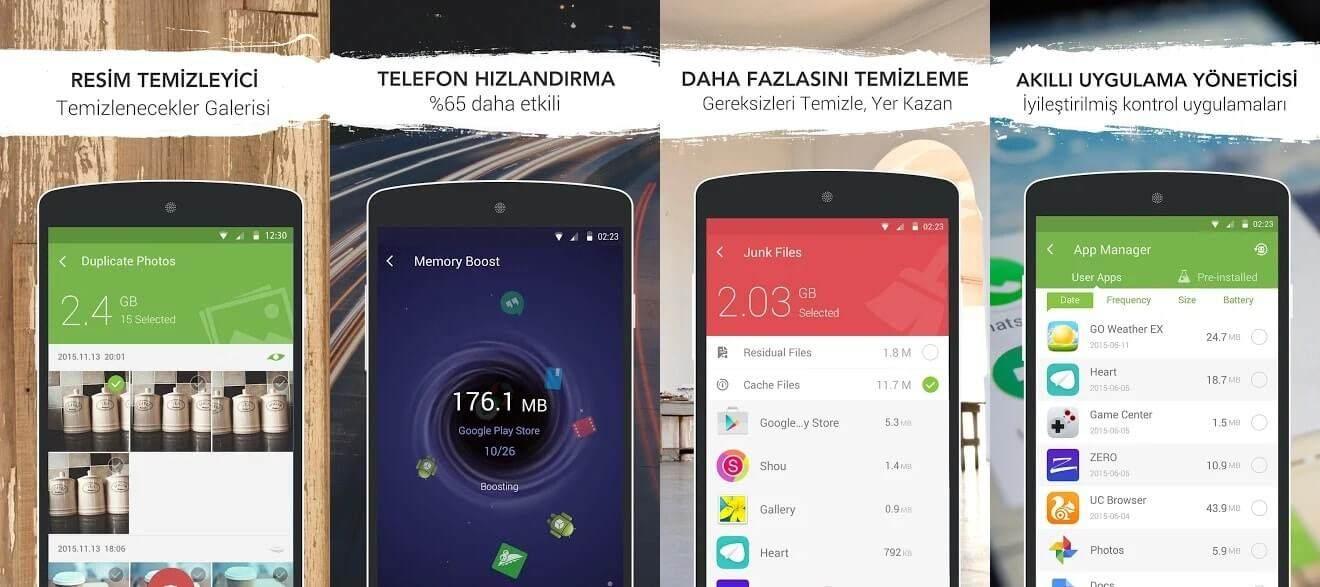 android temizleme programı