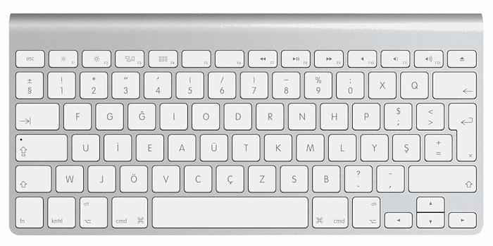 mac klavye kısayolları değiştirme
