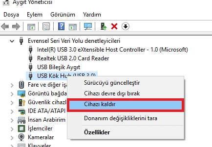 USB Girişlerini Devre dışı Bırakma