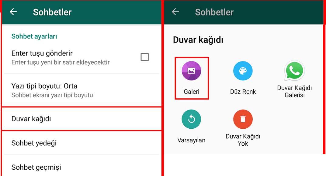 Whatsapp Kişiye Özel Duvar Kağıdı Ayarlama