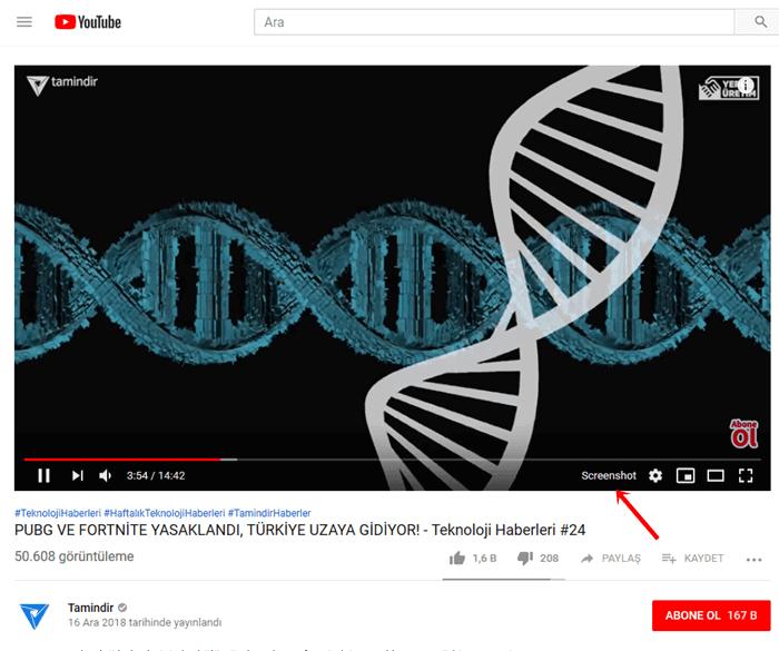 youtube ekran görüntüsü alma programı