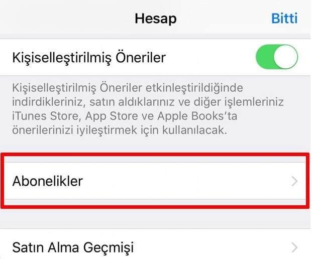 app store uygulama içi satın alma iptali