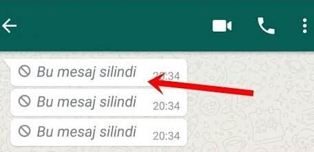 whatsapp herkesten silinen mesajı görme
