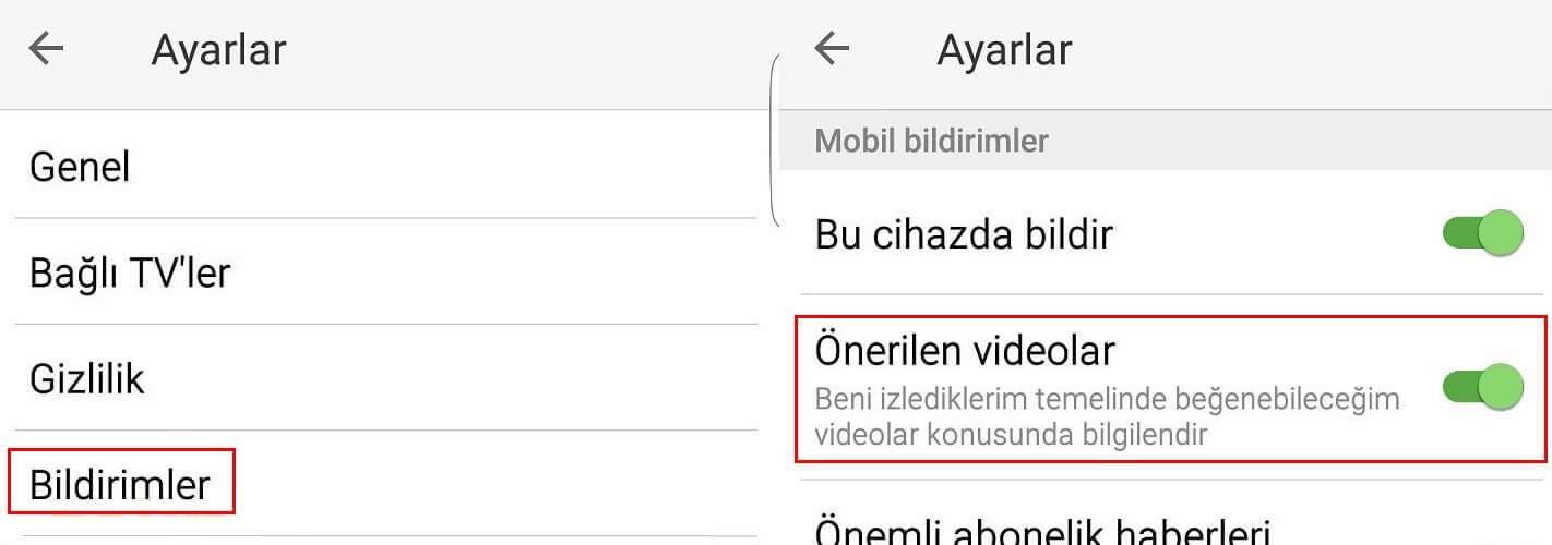 Youtube video sonunda çıkan önerileri kapatma