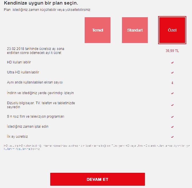netflix ücretsiz hesap