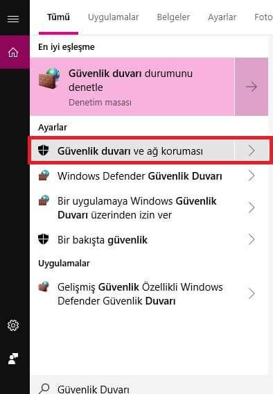 Windows 10 Güvenlik Duvarında Programlara İzin Verme – güvenlik duvarında programlara i̇zin verme