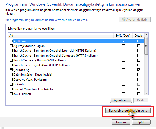 windows 10 guvenlik duvarinda programlara izin verme 3 Windows 10 Güvenlik Duvarında Programlara İzin Verme