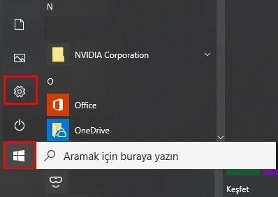 windows 10 siyah tema etkinleştirme