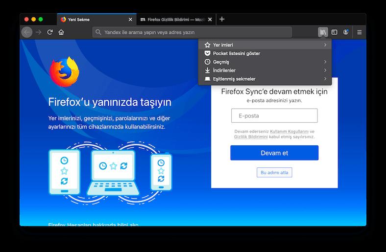 Chrome'dan Firefox'a Aktarma