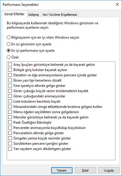 bilgisayarın yavaşlamasını engellemek