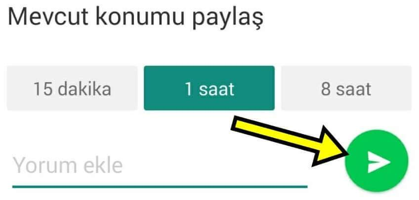 Whatsapp Konum Gönderme