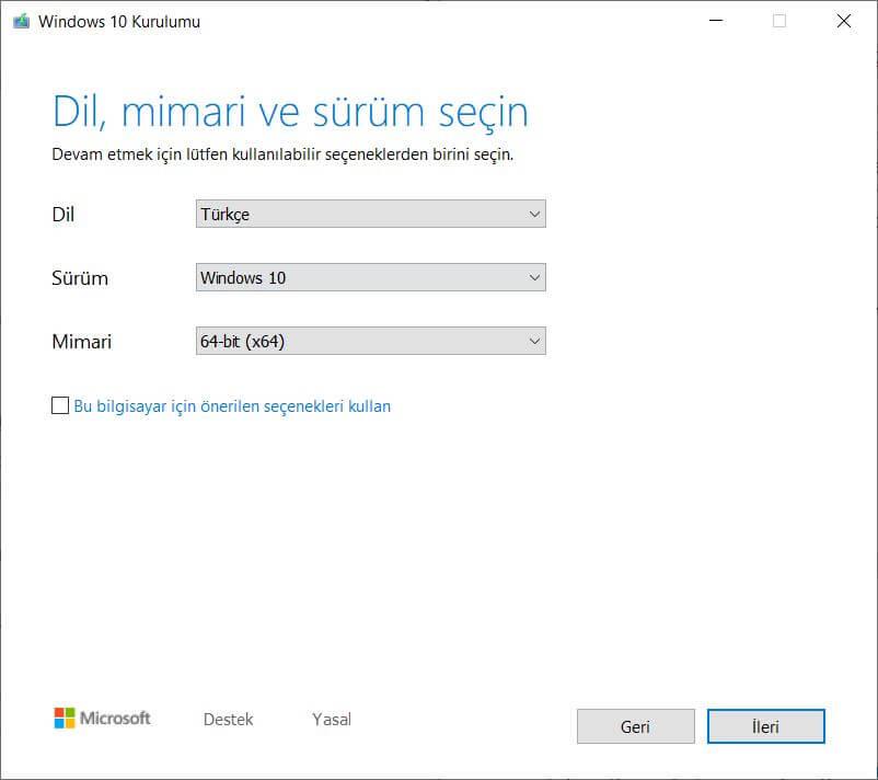 Windows 10 Türkçe ISO İndirme ve Kurulum Rehberi