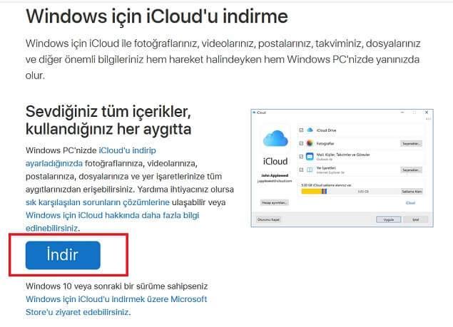 iCloud Windows'da Nasıl Kullanılır ?