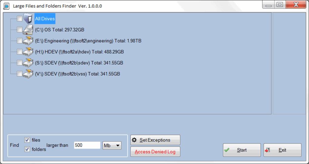 Windows'da büyük boyutlu dosyaları bulma