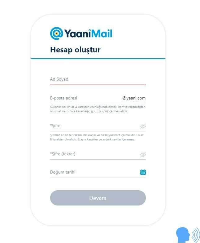 Yaani mail adresi, yaani mail hesap aç, yaani mail adresi alma