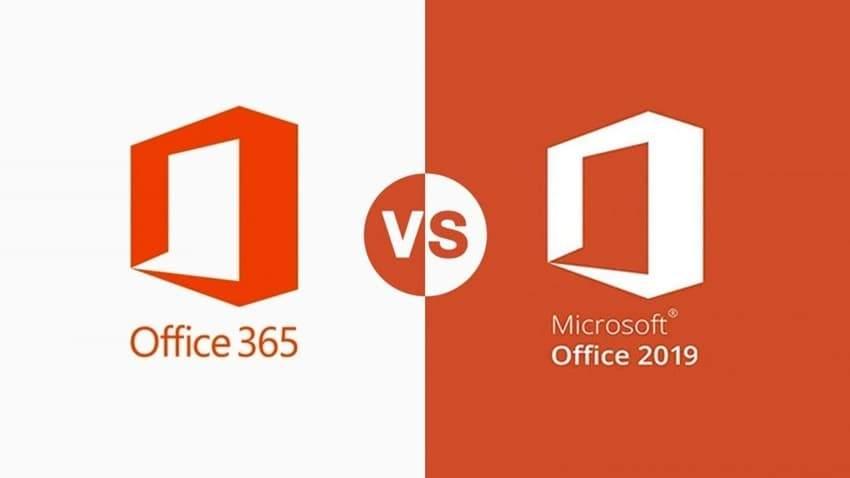Microsoft Office sürümleri arasındaki farklar, Office 365 ile Office 2019 arasındaki fark, Office 365 Office 2019 farkı