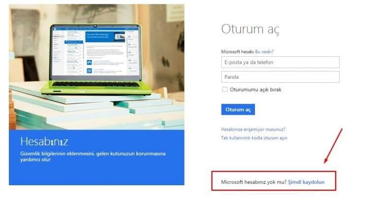 Microsoft hesabı nasıl Açılır, Microsoft hesabı kaydol, Microsoft hesap açma, Microsoft hesap kapatma