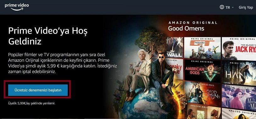 Amazon Prime Türkiye üyelik,Amazon Prime üyelik iptali
