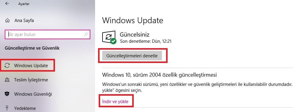 Windows 10 2004 güncellemesi,Windows 10 2004 indir,Windows 10 2004 ISO