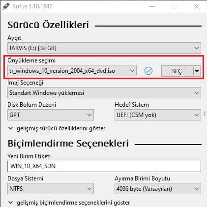 Windows 10 UEFI kurulum,Windows 10 USB boot,UEFI Windows 10 ISO,BIOS türü öğrenme