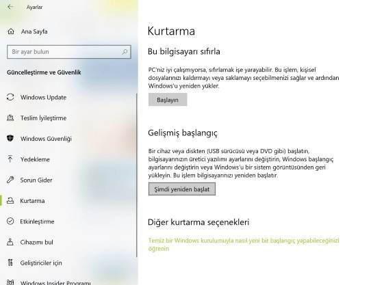 Güvenli modda açma, F8 güvenli mod, güvenli mod açılmıyor, Windows 10 Güvenli mod açma