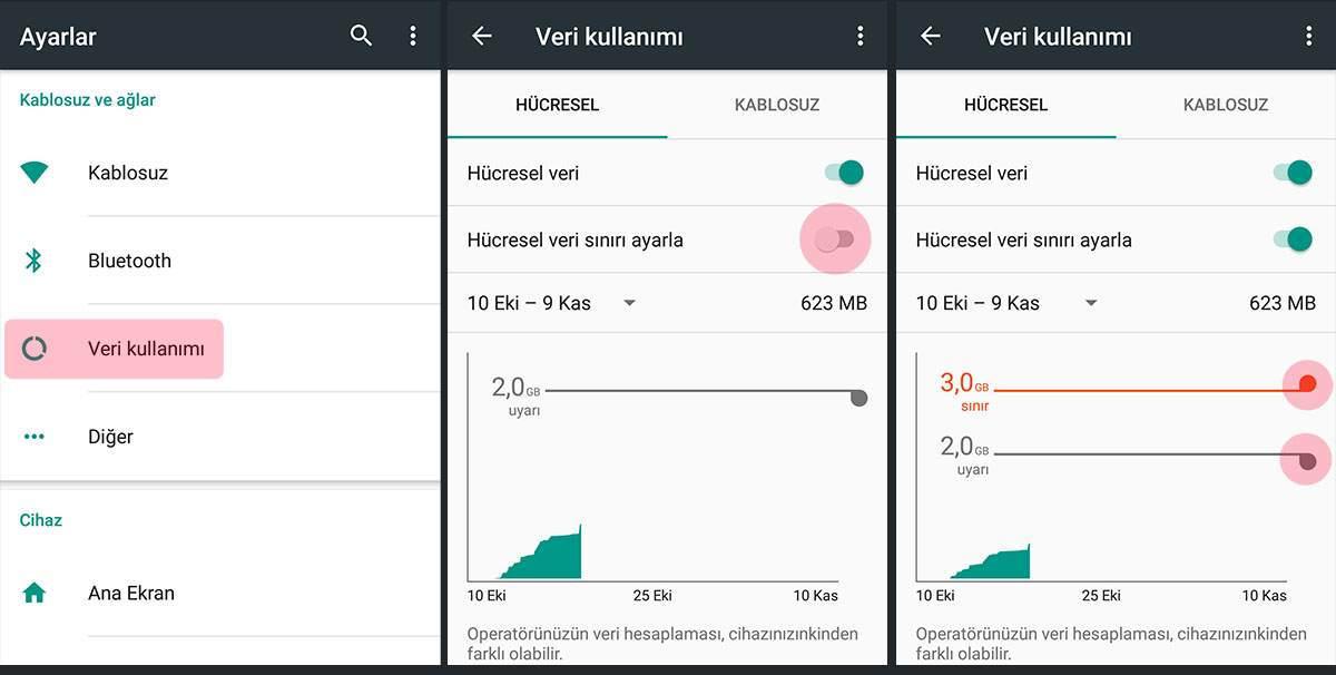 Mobil Veri Kullanım Uyarısı Nasıl Kapatılır ?