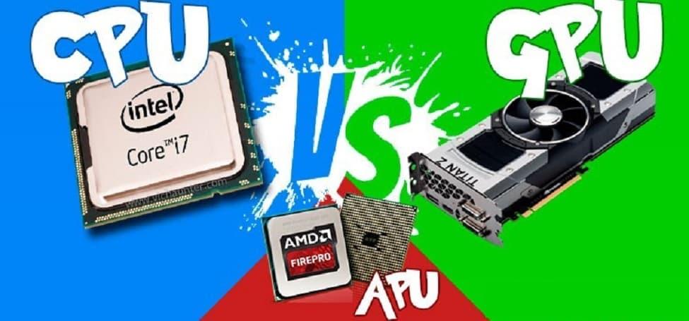 CPU, GPU, APU nedir, aralarında ne fark var?