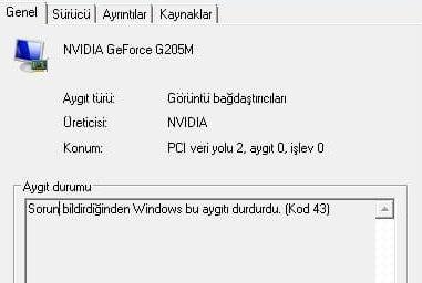 Sorun bildirdiği için Windows bu aygıtı durdurdu (Kod 43) hatası nasıl çözülür?